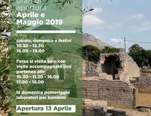 Orari di apertura dell'area archeologica di Privernum